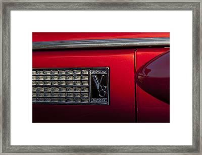 1937 Cadillac V8 Emblem Framed Print by Jill Reger