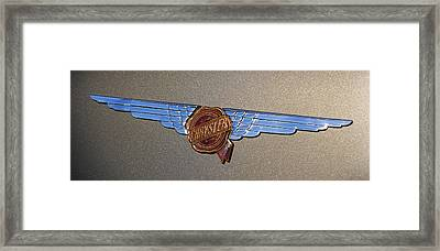 1937 Chrysler Airflow Emblem Framed Print by Gordon Dean II
