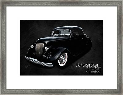 1937 Dodge Coupe  Framed Print by Anne Kitzman