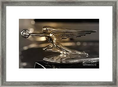 1937 Packard Hood Ornament   Framed Print by Steven Digman
