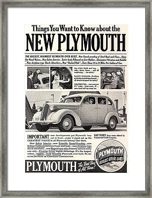 1937 Plymouth  Framed Print