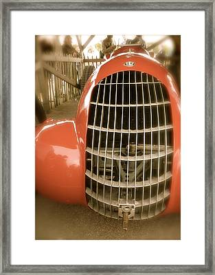 1938 Alfa Romeo 308c Front Grill Framed Print by John Colley