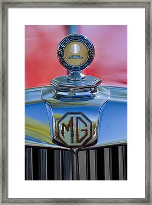 1938 Mg Ta Hood Ornament 2 Framed Print by Jill Reger