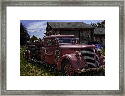 Framed Print featuring the photograph 1939 American Lafrance Foamite by Tom Gort