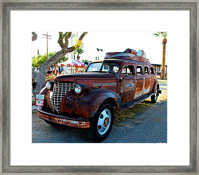 Framed Print featuring the photograph 1939 Chevy Sedan Limo by Jo Sheehan