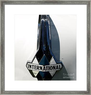 1939 International Hood Ornament  Framed Print by Steven Digman