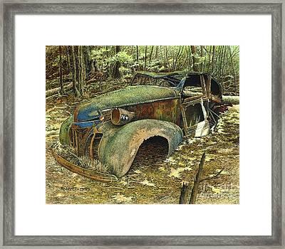 1939 Pontiac Framed Print by Robert Hinves