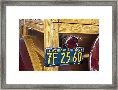 1939 Pontiac Silver Streak Deluxe Station Wagon Taillight Framed Print