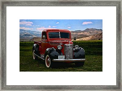 1940 Chevrolet Pickup Truck Framed Print