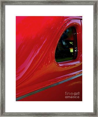 1940 Ford Coupe Side Window Framed Print