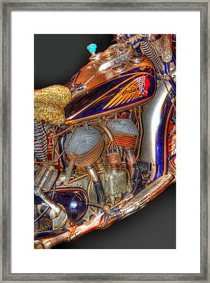 1940 Indian Scout Police Unit Version 1 Framed Print by Ken Smith