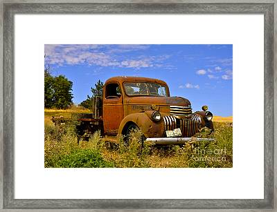 1940's Chevy Truck 2 Framed Print by Camille Lyver