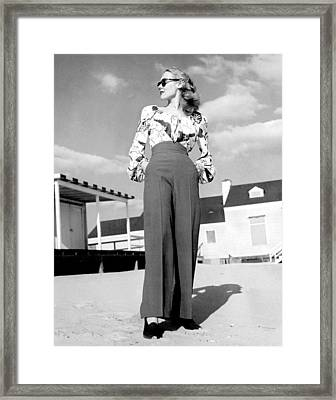 1940s Fashion A Peasant Top Framed Print by Everett