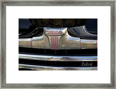 1940s Ford Grill Framed Print