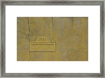 1945 Scardino Framed Print by Nikki Marie Smith