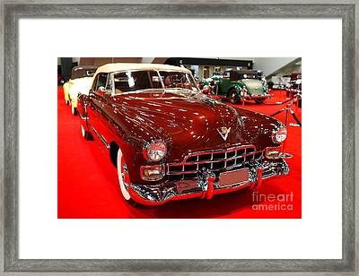 1947 Red Cadillac Convertible . 7d9220 Framed Print by Wingsdomain Art and Photography