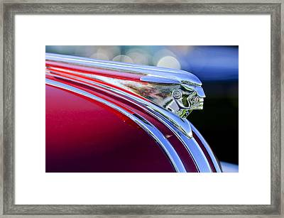 1948 Pontiac Streamliner Woodie Station Wagon Hood Ornament Framed Print