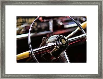 1949 Cadillac Steering Wheel Framed Print