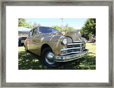 1949 Plymouth Delux Sedan . 5d16207 Framed Print by Wingsdomain Art and Photography