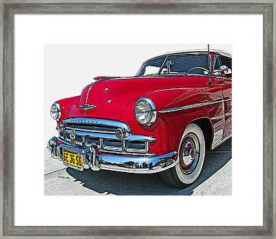 1950 Chevrolet Fleetline Deluxe Convertible Framed Print by Samuel Sheats