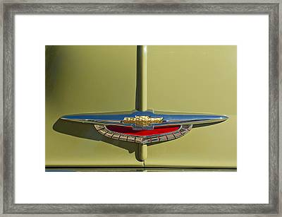 1950 Chevrolet Fleetline Emblem Framed Print by Jill Reger