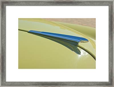 1950 Chevrolet Fleetline Hood Ornament 2 Framed Print