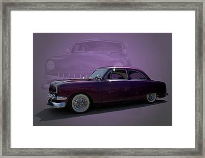 1950 Custom Ford Street Rod Framed Print