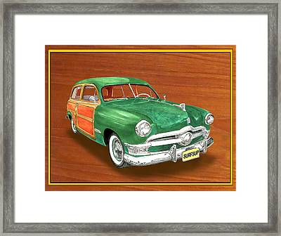 1950 Ford Country Squire Woody Framed Print by Jack Pumphrey
