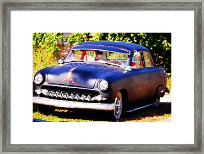 Framed Print featuring the photograph 1950 Ford  Vintage by Peggy Franz