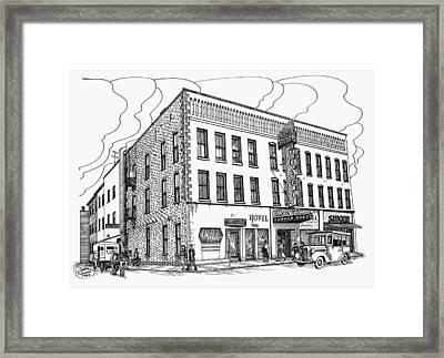 1950 Grand Central Hotel Brockville Framed Print by John Cullen