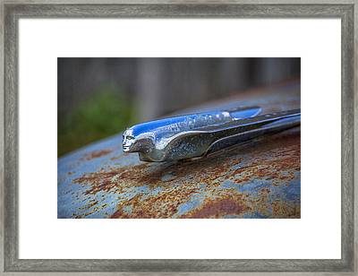1950s Cadillac Hood Ornament - Torcwori Framed Print by Peter Ciro
