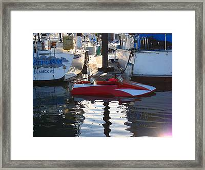 1950's Custom Hydroplane Framed Print by Kym Backland