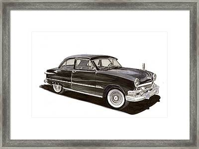 1951 Ford 2 Dr Sedan Framed Print by Jack Pumphrey