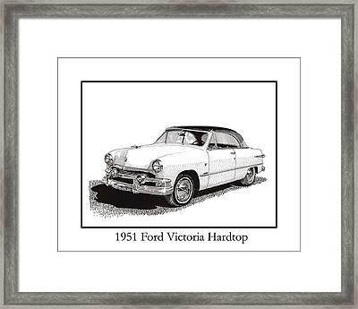 1951 Ford Victoria Hardtop Framed Print by Jack Pumphrey