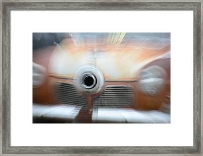 1951 Studebaker Abstract Framed Print by Randy J Heath
