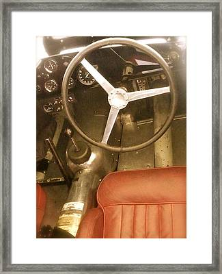 1952 Aston Martin Db3 Cockpit Framed Print by John Colley