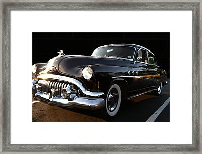 Framed Print featuring the photograph 1952 Buick In Black by Elizabeth Coats