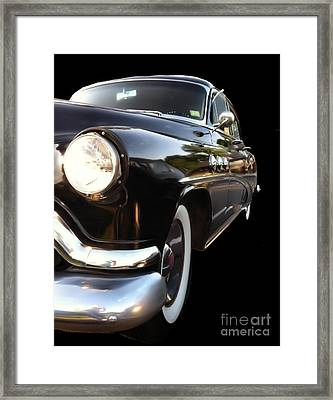 Framed Print featuring the photograph 1952 Buick Side View by Elizabeth Coats
