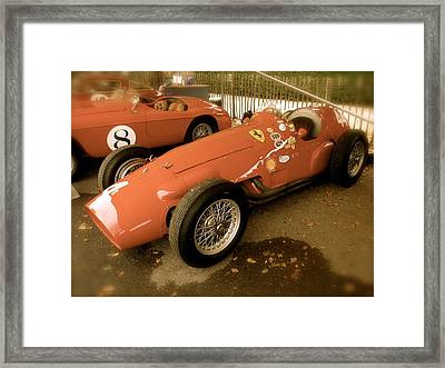 Framed Print featuring the photograph 1952 Ferrari 500 625 by John Colley