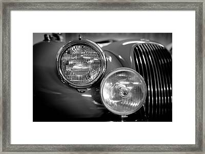 1952 Jaguar Headlights Framed Print