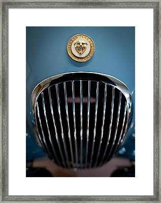 1952 Jaguar Hood Ornament And Grille Framed Print by Sebastian Musial