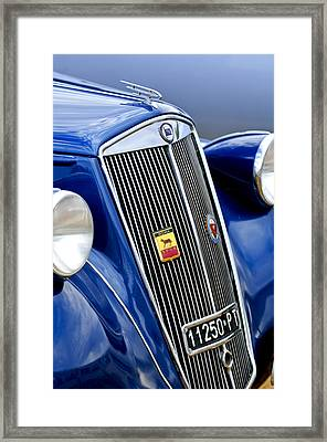 1952 Lancia Ardea 4th Series Berlina Grille Emblems Framed Print by Jill Reger