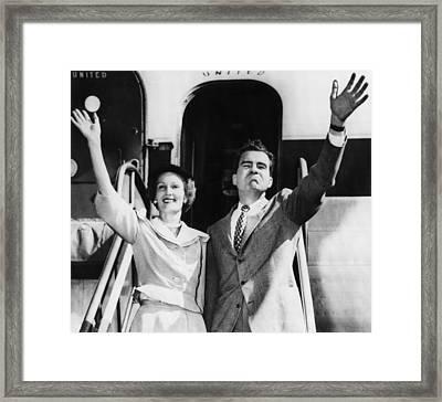 1952 Presidential Campaign.  Patricia Framed Print by Everett