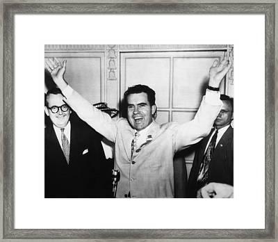1952 Presidential Campaign.  Senator Framed Print