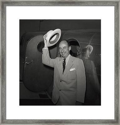 1952 Presidential Nominee Adlai Framed Print by Everett