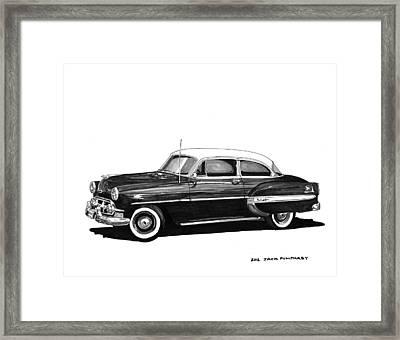 1953 Chevrolet Post 2 Dr Sedan Framed Print by Jack Pumphrey