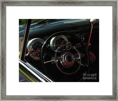 1953 Mercury Monterey Dash Framed Print by Peter Piatt