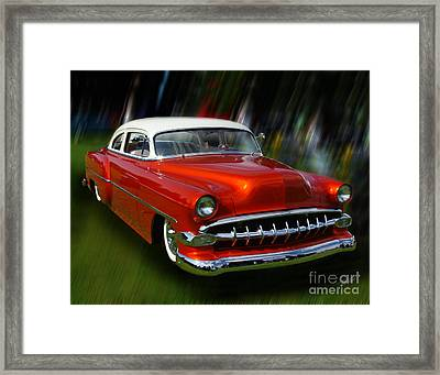 1954 Bel Air Custom 02 Framed Print by Peter Piatt