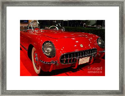 1954 Chevrolet Corvette . Red . 7d9157 Framed Print by Wingsdomain Art and Photography