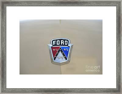 1954 Ford Customline Emblem Framed Print by Paul Ward